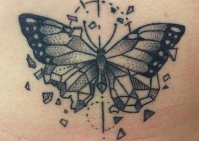 mariposa geometrica